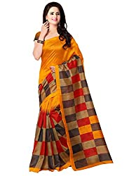 Trendz Womens Cotton Silk Saree (TZ_Jolly_Multi_Free Size)