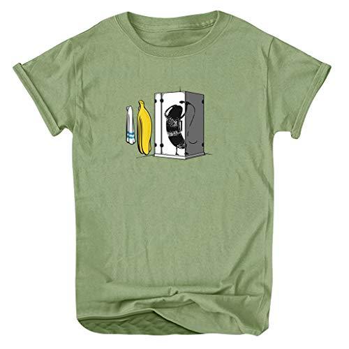 Haughtily Frauen Lustige Gedruckte Kurzarm Sweatshirt Rundhals Plus Size Loose Casual Pullover T-Shirt - Gedruckt Dolman Sleeve