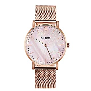 Watches for Man, Stainless Steel Ultra Thin Men's Women Watches Luxury Casual Quartz Watch
