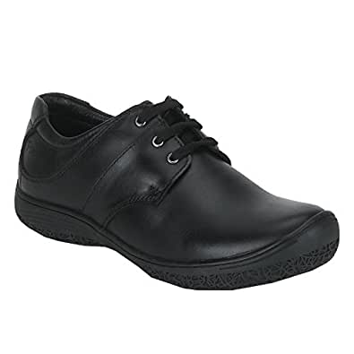 Red Chief Men's Black Leather Sneakers-10 UK/India (44 EU) (PF3471 001)