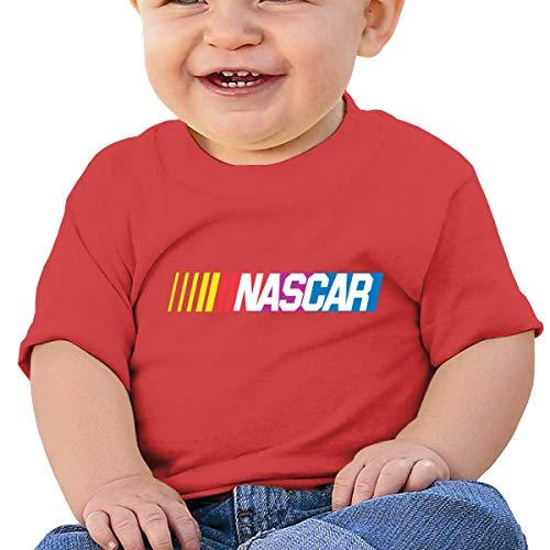 Kinder Jungen Mädchen Shirts NASCAR T Shirt Kurzarm T-Shirt Für Tollder Jungen Mädchen Baumwolle Sommer Kleidung Rot 6 Mt -