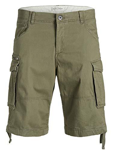 JACK & JONES Herren Cargo Short JJICHOP JJCARGO Shorts AKM 429 STS- Relaxed Fit, Größe:XS, Farbe:Olive Night (12133060)