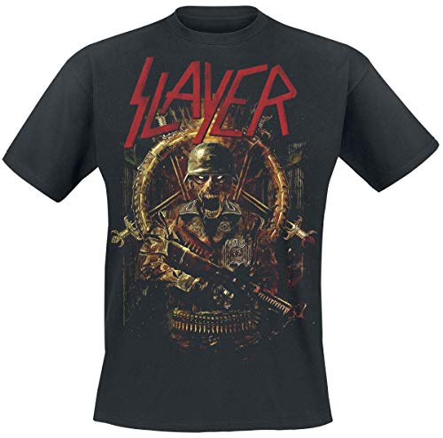Slayer Comic Book Cover Camiseta Negro XXL