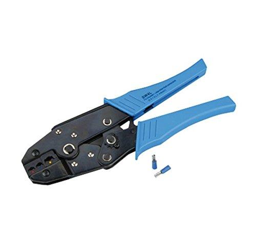 Preisvergleich Produktbild Unitec Kabelschuh-Crimpzange SW/BL, 1 Stück, Blau, 46606