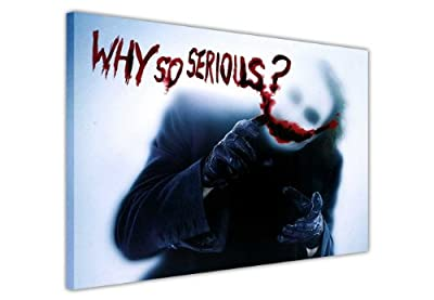 Joker From Batman Dark Night Quote Why So Serious Quote Canvas Wall Art Prints Pictures Hollywood Legends Dc Comics Print Pop Art