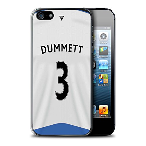 Offiziell Newcastle United FC Hülle / Case für Apple iPhone 5/5S / Colback Muster / NUFC Trikot Home 15/16 Kollektion Dummett