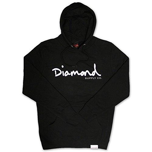 Diamond Supply Co OG Script Hoodie Black White Black