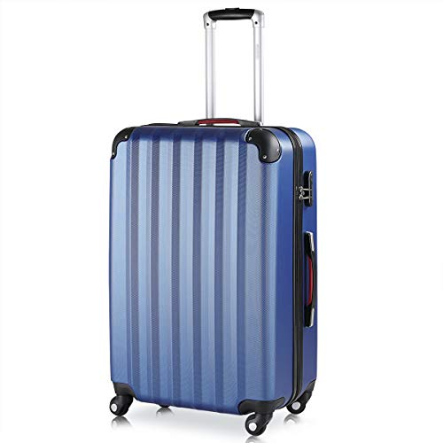 Monzana Hartschalenkoffer Trolley | mit Schloss | 4 Rollen | Alu-Teleskopgriff | XL Hartschale Reisekoffer Business Koffer