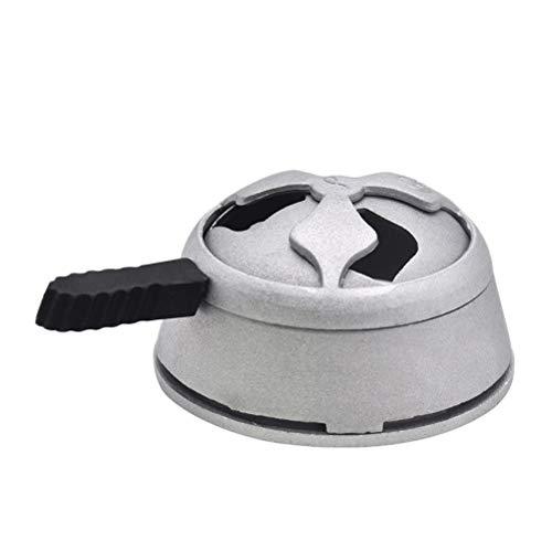LIOOBO Shisha Kohle Halter einzigartige Form Kohle Halter Aluminiumlegierung Shisha Holzkohle Zubehör Set -