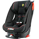 Silla de coche Ferrari gran confor inclinable Groupo 1 (9kg a 18kg) - 4 estrellas Tests TCS - Protección para golpes laterales - Asiento inclinable 4 posiciones
