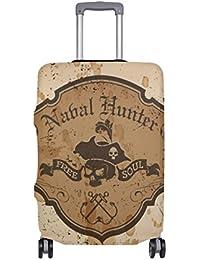 Preisvergleich für COOSUN VECTOR PIRATES Sailor Entwurfs-Druck-Reise-Gepäck Schutzabdeckungen Waschbar Spandex Gepäck Koffer Cover...