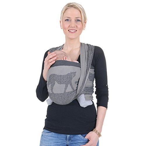 Hoppediz Z-3J masasi écharpe de portage pour bébé, avec guide binde,  Jacquard 5b41a49af33