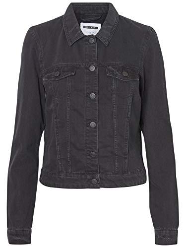 Noisy may Damen Jeansjacke NMADA Denim Jacket VI025BL CLR, Größe:L, Farbe:Black Denim (27006402)