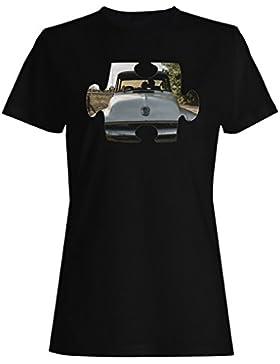Rompecabezas viejo vintage hermoso coche camiseta de las mujeres e611f