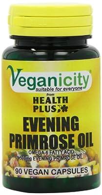 Veganicity 500mg Vegan Evening Primrose Oil Women's Health Supplement - Pack of 90 Capsules from Health + Plus Ltd