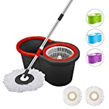 Dripex Spinning Mop and Bucket Cleaning Set-360 Degree Spinning With Two Mop Heads