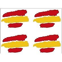 Artimagen Pegatina Bandera Trazos España 4 uds.