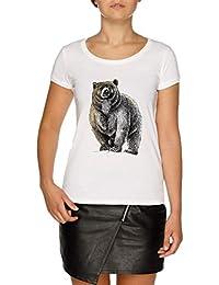 Jergley Protettore Bianco Il Shirt T Orso Maglietta Donna Un Grande Women's Feroce 6X6Rwngx
