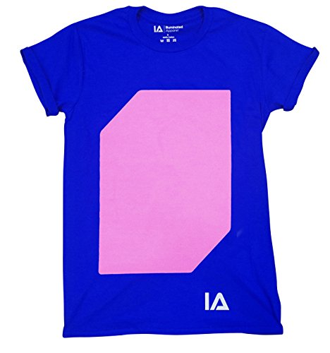 Illuminated Apparel Interaktive Leucht T-Shirt (Blau/Rosa, M)