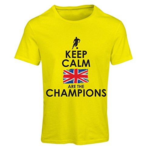 Frauen T-Shirt North Irish Are The Champions ! (XX-Large Gelb Mehrfarben)