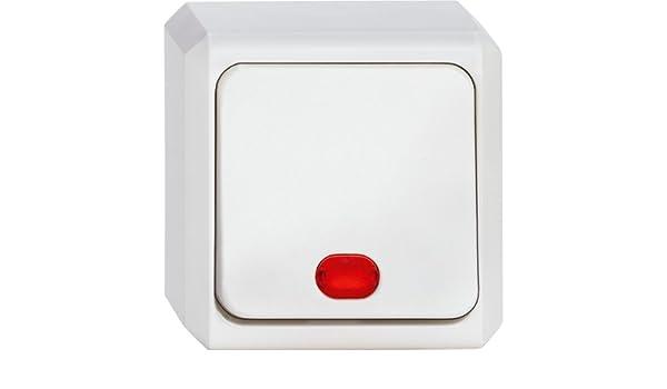 MERTEN 302619 Wipp-Kontrollschalter Wechsel Schalter polarweiss Aufputz