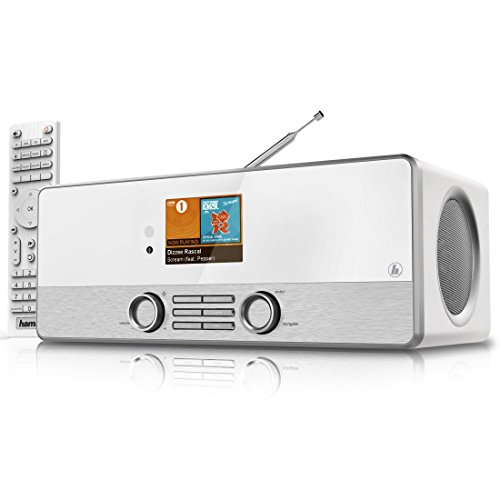 "Hama Internetradio Digitalradio DIR3110MS (Spotify, WLAN/LAN/DAB+/FM, 2,8"" Farbdisplay, USB, Weck- und Wifi-Streamingfunktion, Multiroom, Fernbedienung, gratis Radio App) weiß"
