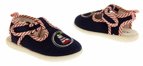 De Fonseca Guardinano Chaussures de Toile de Plage Garçons Bleu Marine
