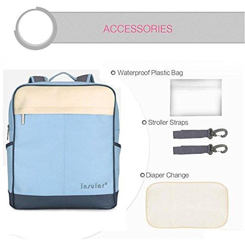 Kangming Multifunktions Baby Windel Rucksack Wickeltasche Mama Tasche für Reisen Outdoor blau