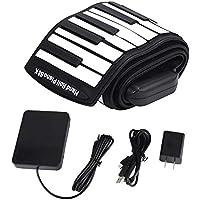 Roll-Up-Klavier, tragbares elektronisches Keyboard-Klavier, flexibles Klavier, Faltklavier 88-Tasten-Klavier für Anfänger