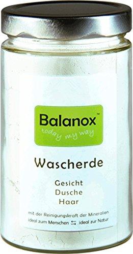 Preisvergleich Produktbild BALANOX Wascherde im Glas | 100% weiße Lavaerde (Tonerde) aus Frankreich 400 g | basische mineralische Dusche, Gesichts- und Haarwäsche, natürliches Basenbad | spürbare Frische durch die Reinigungskraft der Mineralien | Peeling ohne Mikroplastik | Zubereitung und Anwendung sehr schnell und einfach
