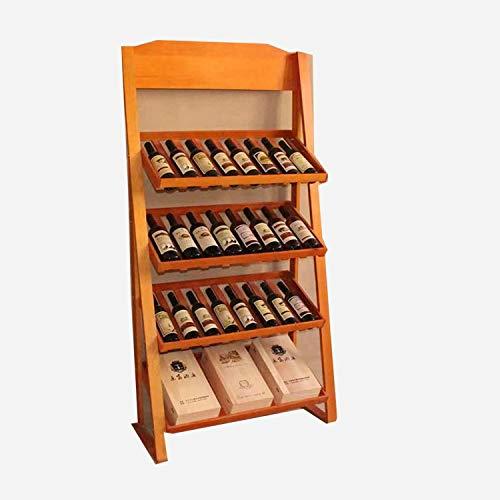 Weinregal Massivholzweinregal Wein Wein aus Holz Anzeige vertikale Holz Anhänger Vielzahl von Benutzerdefinierten Kiefer Stehen -