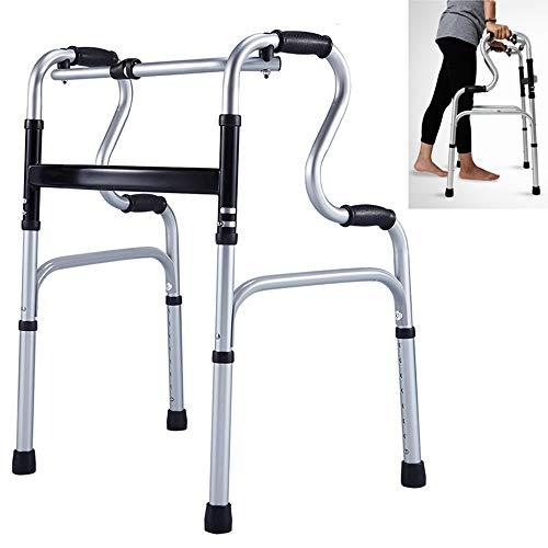 SANDOYO Gehhilfe mit Rädern, Verstellbare Gehhilfen Ausgestattete Räder Ausgestattete Gehhilfen for ältere Menschen mit Zwei Rädern, Gehhilfe for Erwachsene, Faltbare Gehhilfen for ältere Menschen