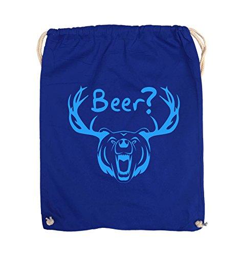 GEWEIH Comedy Pink Royalblau Bags Schwarz Turnbeutel Beer 37x46cm Farbe Blau BÄR 6ZtRZrqxw