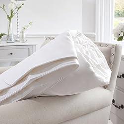Jasmine Silk Füllung aus 100% Maulbeere Seide Bettdecke Leicht Steppbett Steppdecke- Single (140 x 200cm) 4 Tog