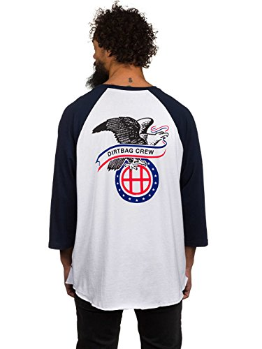 Herren Langarmshirt HUF Dogout Raglan T-Shirt Navy