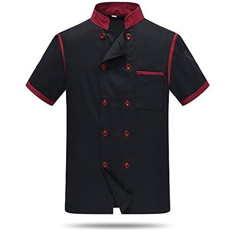 Chef Jackets Waiter Coat Short Sleeves Back and Underarm Mesh