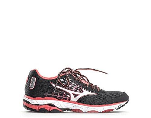 Mizuno Zapatillas de Running Wave Inspire 11 Narrow Wos Negro/Plateado/Rojo EU 41 (US 10)