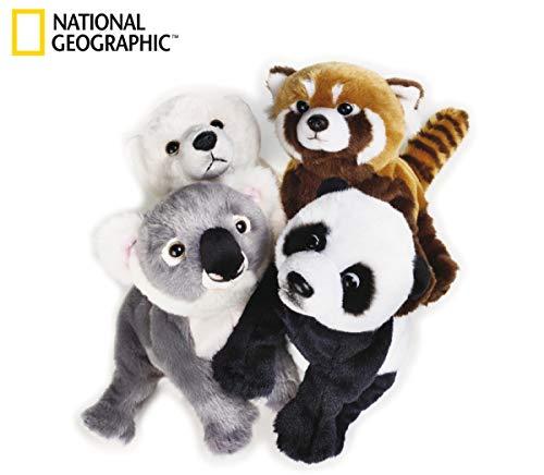 National Geographic 770767 - Koala/Panda/Panda Roux/ Ours Blanc, lot de 4 Modèle Assorti