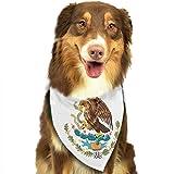 Gxdchfj Pet Sciarpa Bandiera del Messico Cane Bandana Collare Triangolo Fazzoletto Bavaglino Sciarpa Accessori Pet Saliva Asciugamano