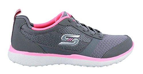 Skechers, Sneaker donna nero Black Grigio