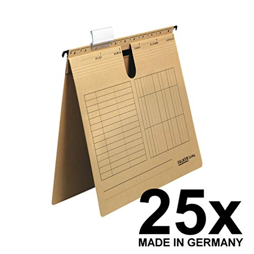 Falken Das Original 25er Pack Hängehefter UniReg kaufmännische Heftung aus Recycling-Karton für DIN A4 braun Blauer Engel ideal für die lose Blatt-Ablage im Büro und der Behörde Made in Germany
