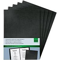 Sigel SM115/5 Speisekarten-Mappen mit Gummi-Bindung für A5, 5-er Pack, schwarz - auch in A4