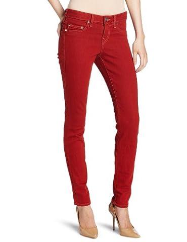 True Religion Jean Skinny HALLE PHANTOM SKINNY, Couleur: Rouge, Taille: 24