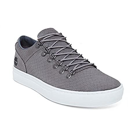 Timberland CA1GRU Mens Gray Leather Sneakers, 10