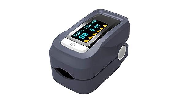 Saturimetro da Dito Portatile Professionale Pmall Pulsossimetro e La Saturazione di Ossigeno Misure,Marrone Spo2 Display OLED per Frequenza del Polso PR