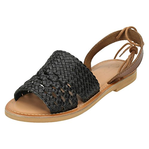 Leather Collection , Sangle de cheville femme Noir - noir