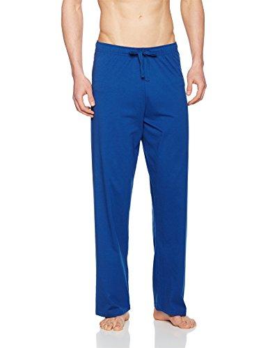 Seidensticker Herren Zweiteiliger Schlafanzug Anzug Lang Blau (Dunkelblau 803)