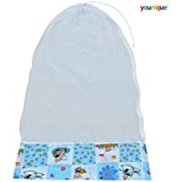 Younique Mosquito Net for Baby Cradle/Mosquito Net for Baby Jhula/Baby Swing with Zip Opening (0-3 yrs) (Blue & White)
