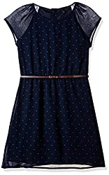 United Colors of Benetton Womens A-Line Dress (16A4PM3V6404I901XS_Dark Blue)