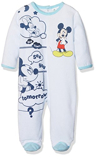 Disney Baby Mickey Mouse pagliaccetto a maniche lunghe Hellblau 74 cm (12 Mesi)